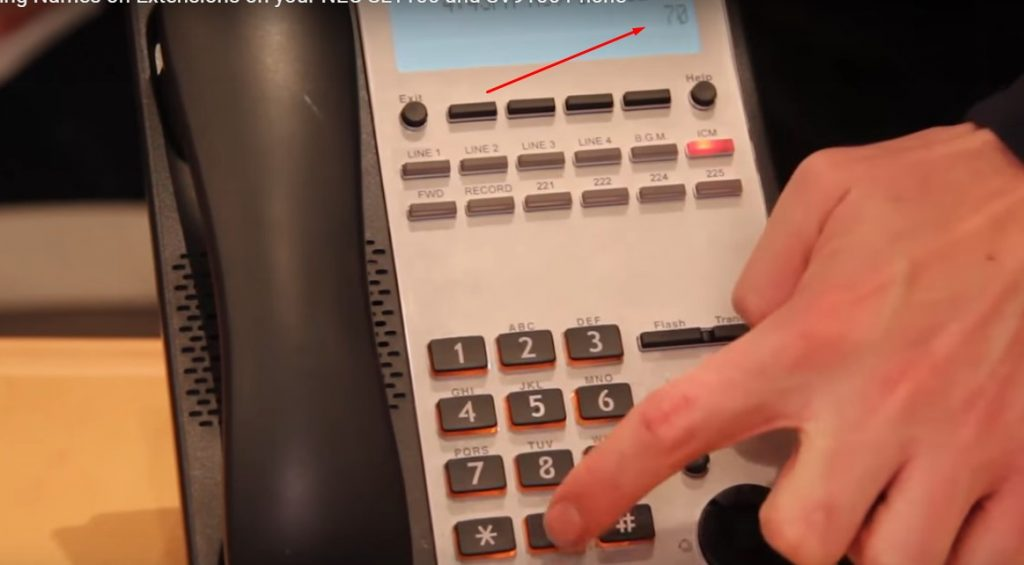 How to Change Names on Extensions on NEC Phones | Digitcom